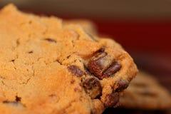 Chocolade Chip Cookies op Plaat 5 Royalty-vrije Stock Foto
