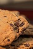Chocolade Chip Cookies op Plaat 4 Royalty-vrije Stock Afbeelding