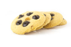 Chocolade Chip Cookies Overlapping Royalty-vrije Stock Foto's