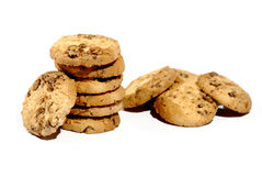 Chocolade Chips Cookies Royalty-vrije Stock Foto