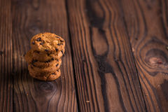 Chocolade Chips Cookies Stock Foto