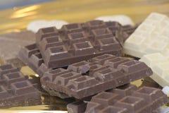 Chocolade, chocolade, chocolade! Royalty-vrije Stock Foto's