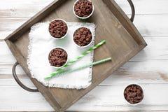 Chocolade crispies Stock Foto