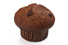 Chocolade Cupcake met Chocoladeschilfers stock foto