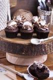 Chocolade cupcake met heemst Royalty-vrije Stock Foto