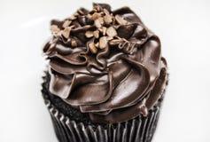 Chocolade cupcake met het berijpen Royalty-vrije Stock Foto