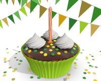 Chocolade cupcake voor een kind Royalty-vrije Stock Afbeelding
