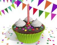 Chocolade cupcake voor een kind Royalty-vrije Stock Foto