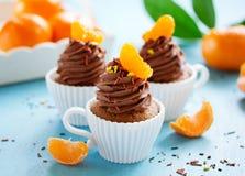 Chocolade cupcakes Royalty-vrije Stock Afbeeldingen