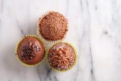 Chocolade cupcakes Royalty-vrije Stock Fotografie