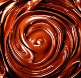 Chocolade De gesmolten Achtergrond van de Chocolade Stock Foto