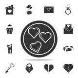 Chocolade in de vorm van hartpictogram Gedetailleerde reeks tekens en elementen van liefdepictogrammen Het grafische ontwerp van  stock illustratie