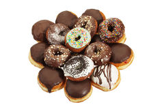 Chocolade donuts Stock Foto