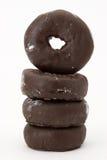Chocolade donuts Royalty-vrije Stock Afbeeldingen