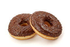 Chocolade donuts Stock Foto's