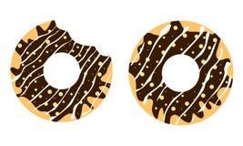 Chocolade Donuts Royalty-vrije Stock Foto