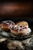 Chocolade Donuts III royalty-vrije stock foto