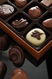 Chocolade in doos Royalty-vrije Stock Afbeeldingen