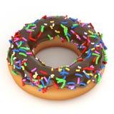 chocolade doughnut stock illustratie