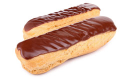 Chocolade eclair royalty-vrije stock afbeelding