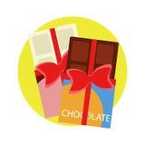 Chocolade in een feestelijk pakket Royalty-vrije Stock Fotografie