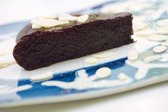 Chocolade en amandelcake Stock Afbeelding