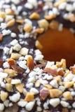 Chocolade en amandelcroissant Royalty-vrije Stock Afbeeldingen