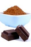 Chocolade en Cacao Royalty-vrije Stock Foto's