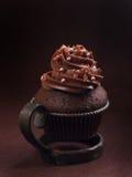 Chocolade en espresso cupcakes Stock Fotografie