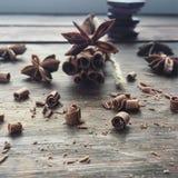 Chocolade en kaneel Stock Foto
