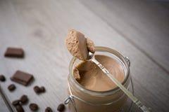Chocolade en koffiemousse Royalty-vrije Stock Afbeeldingen