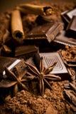Chocolade en kruiden Royalty-vrije Stock Afbeelding