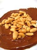 Chocolade en pinda's Royalty-vrije Stock Foto's