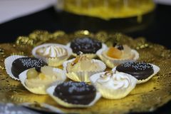 Chocolade en Vanille stock afbeeldingen
