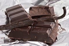 Chocolade en vanille stock afbeelding