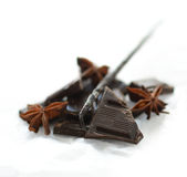 Chocolade en Vanille Royalty-vrije Stock Afbeeldingen