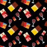 Chocolade en wijn Stock Afbeelding