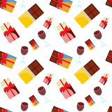 Chocolade en wijn Stock Afbeeldingen