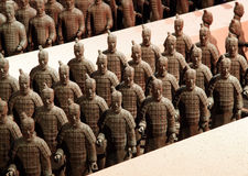 Chocolade-gemaakte terracottastrijders Royalty-vrije Stock Afbeelding