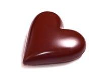 Chocolade heart Stock Afbeeldingen