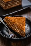 Chocolade honey cake royalty free stock photography