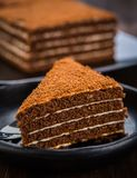 Chocolade honey cake royalty free stock image
