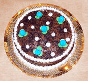 Chocolade Italiaanse Cake Stock Afbeeldingen
