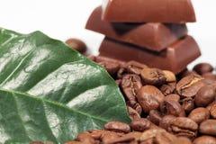 Chocolade-koffie achtergrond Royalty-vrije Stock Afbeeldingen