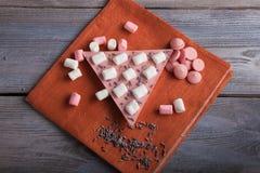 Chocolade met aardbei, heemst en lavendel Stock Afbeelding