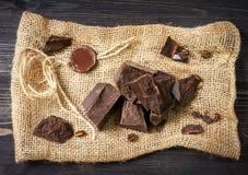 Chocolade met een wasverbinding Stock Afbeelding