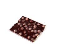 Chocolade met hazelnoten Stock Foto