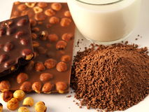 Chocolade met ingrediënten Royalty-vrije Stock Foto