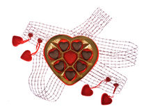 Chocolade met liefde stock fotografie