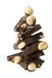 Chocolade met noten Stock Afbeeldingen